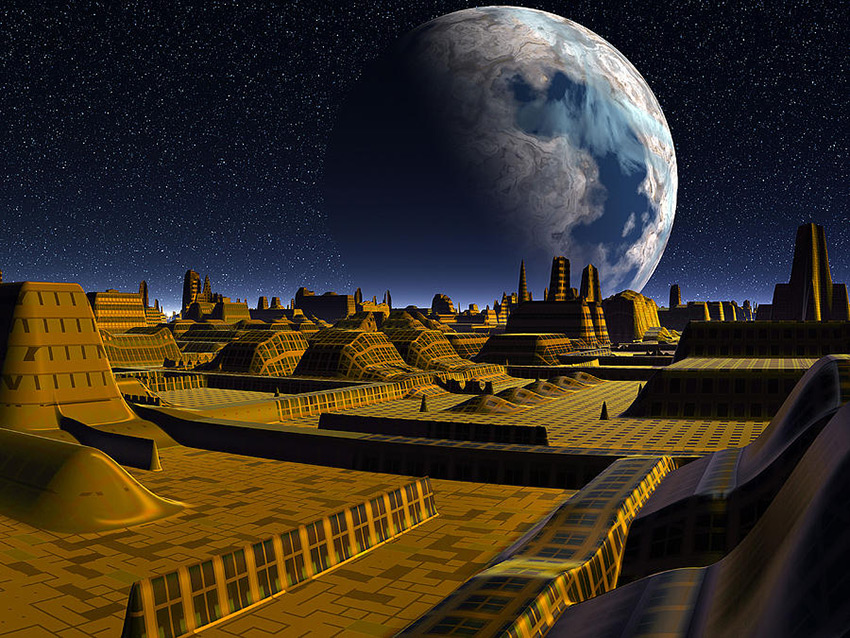 Moon City Alpha is a piece of digital artwork by Phil Sampson