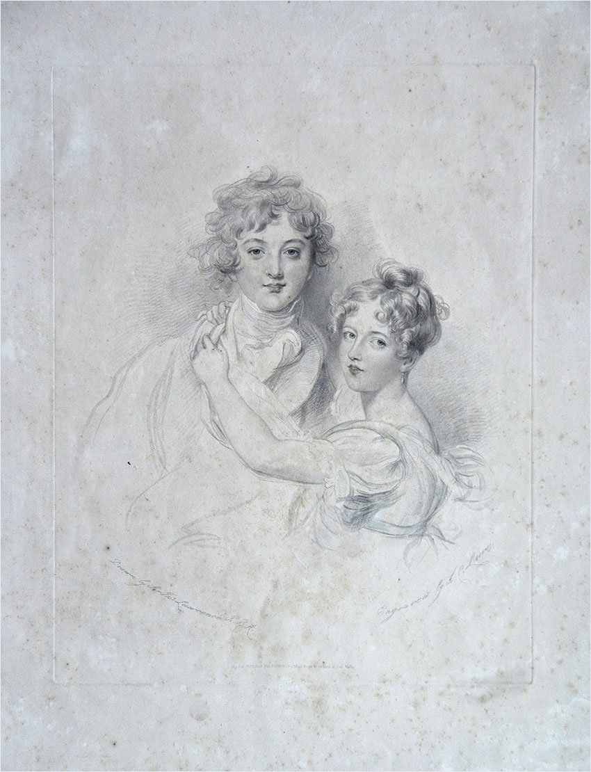 Фредерик Левис с оригинала Томаса Лоуренса. Портрет детей Гамильтон. Англия, XIX в.