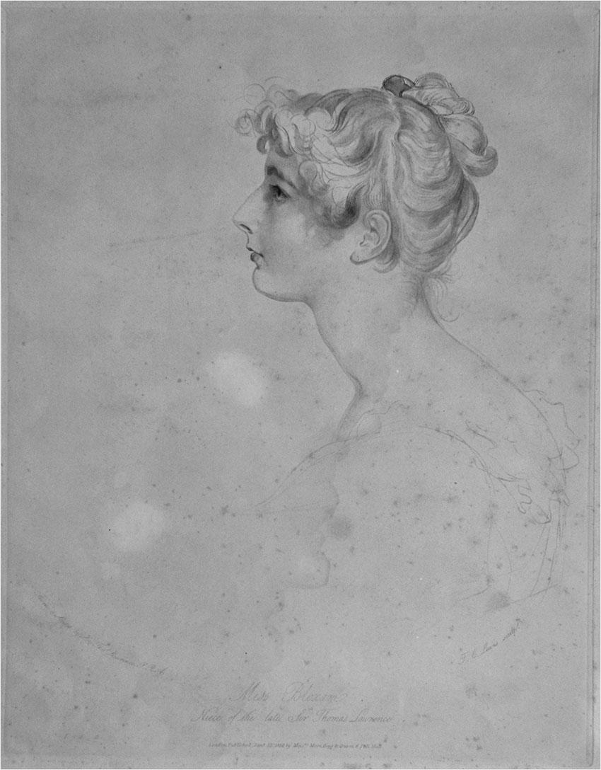 Фредерик Левис с оригинала Томаса Лоуренса. Портрет мисс Блоксэм. Англия, XIX в.