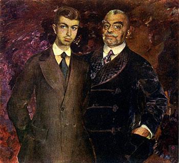 Ф.А. Малявин. Портрет П. Харитоненко с сыном. 1911. Харьковский художественный музей