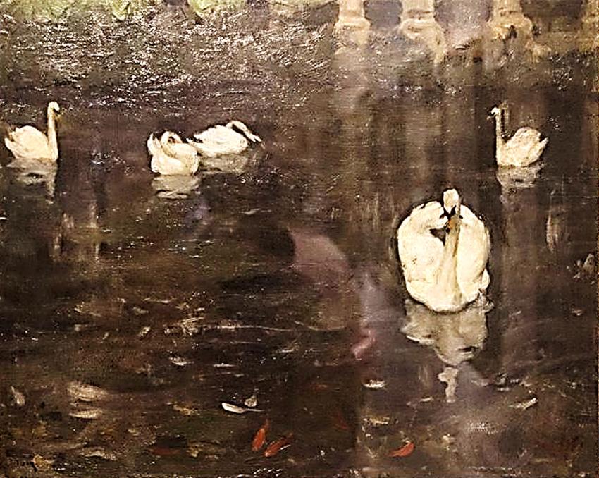 К. Юон. Лебеди. Парк Монсо в Париже. 1899. Холст, масло