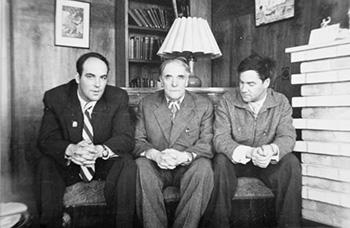 Пётр Леонидович с сыновьями Андреем и Сергеем