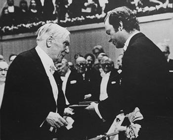 Вручение Нобелевской премии. Стокгольм, 1978