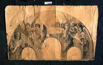 В.А. Котарбинский. Эскиз для росписи. До реставрации
