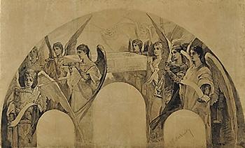 В.А. Котарбинский. Эскиз для росписи. После реставрации
